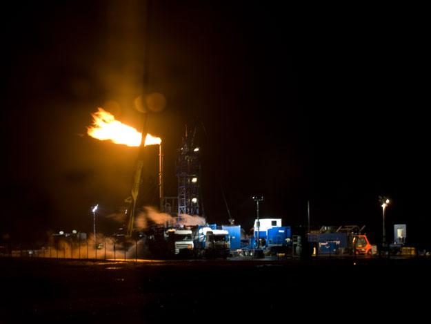 """Bötersen Z11"" beim Abfackeln, ExxonMobil"