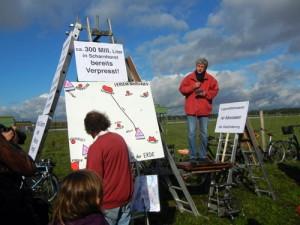 """Demonstration an der Bohrstelle """"Bötersen Z11"""""""